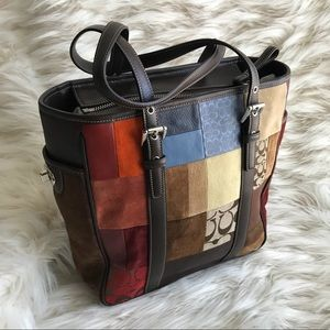 Coach, handbag, patchwork, like new